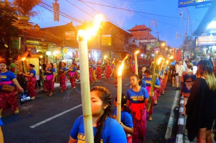 March - awed by Bali's new year celebration, Nyepi