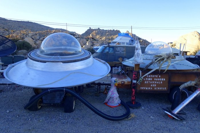 November - stumbled upon a UFO recovery and repair service