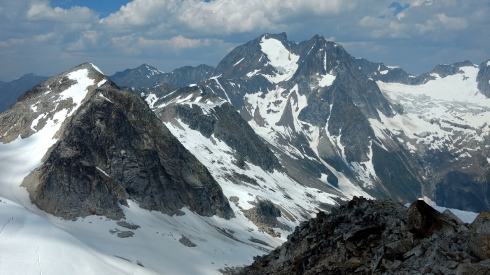 July - An unusually dry summer makes for great mountaineering among BC's rarely visited peaks