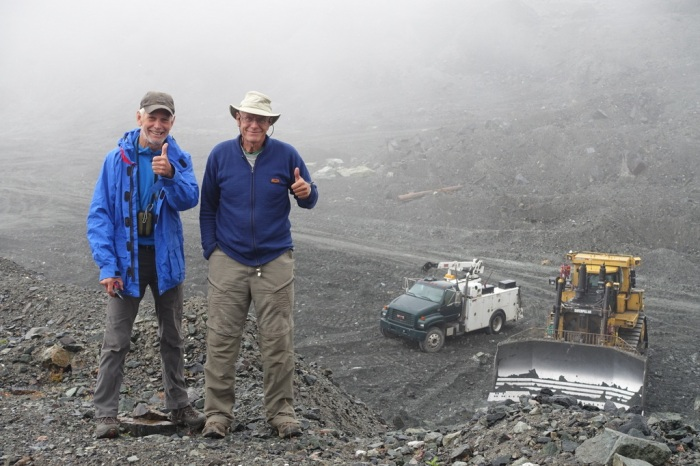 Jim & Calder reminisce at the Cassiar Asbestos Mine