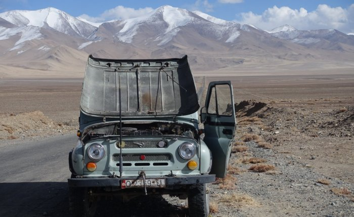 Dead Vehicles on the Pamir Highway
