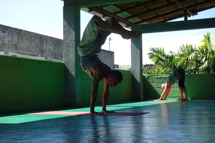 November - Three weeks in Sri Lanka learning yoga helps me stretch out those tight hiking muscles.