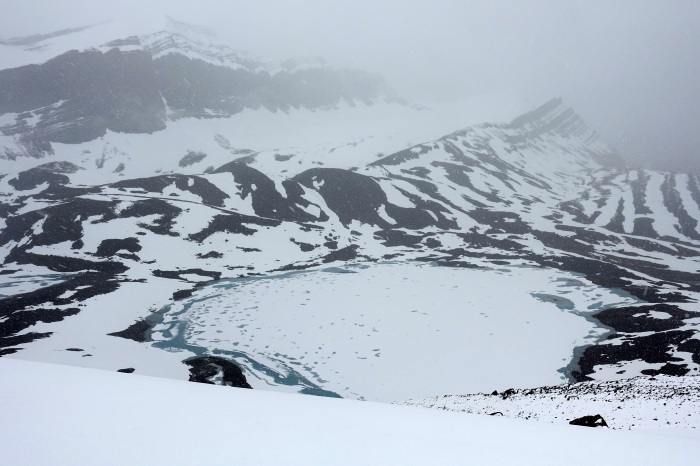July - Even with the arrival of summer, it still feels like winter in the Canadian Rockies.