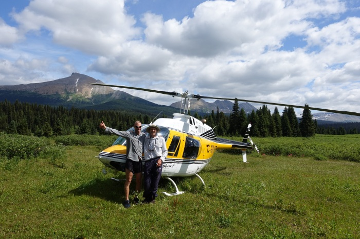 August - I make it to the end of the GDT! As a treat, I catch a helicopter ride out with my new friend, Colin.